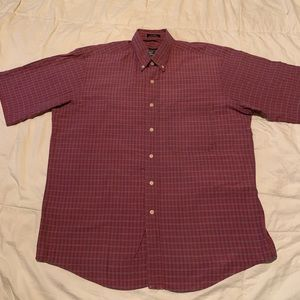 VINTAGE BURBERRYS OF LONDON SHORT SLEEVE BUTTON UP